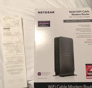 Netgear WiFi Cable Modem Router 802.11N Dual band gigabit / Xfinity / Spectrum / Cox for Sale in St. Cloud, FL
