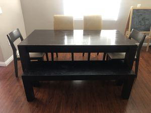 Beautiful solid wood dining table set for Sale in Alhambra, CA