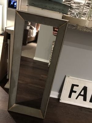 Large rustic all metal mirror for Sale in Chicago, IL