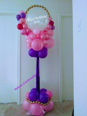 6ft Birthday balloon column for Sale in Houston, TX