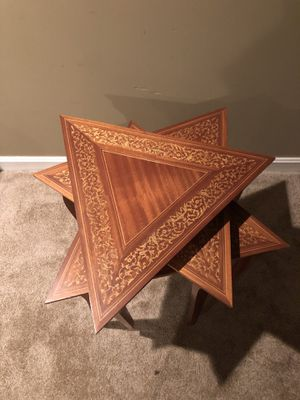 SET OF 3 WOOD TABLE PRE-OWNED IN EXCELLENT CONDITION for Sale in Jessup, MD