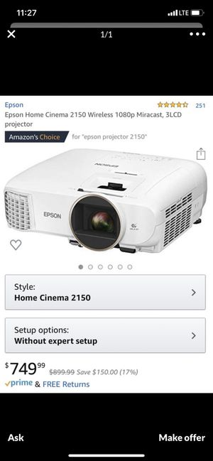 Epson Home Cinema for Sale in St. Louis, IL