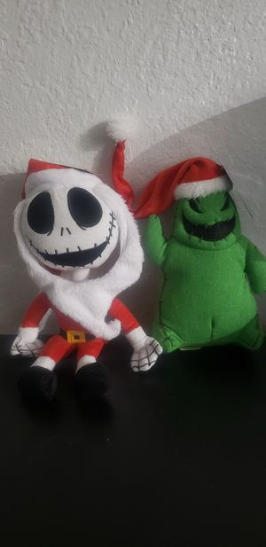 The Nightmare Before Christmas Set of 2- Jack Skellington And Oogie Boogie Plush for Sale in Houston, TX