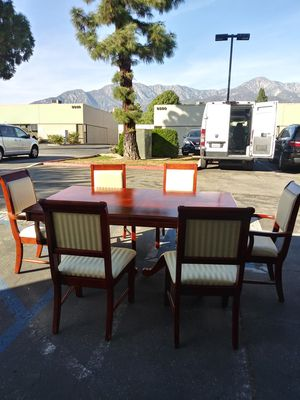 Beautiful cherrywood dining table and chairs for Sale in Rancho Cucamonga, CA