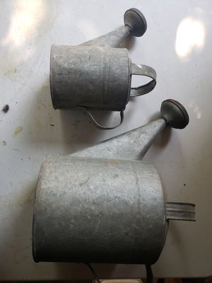 2 Galvanized Vintage Watering Cans for Sale in Hamden, CT