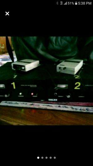Telex Wireless Mic System. Rack of 2 Sets #FMR1 & #WT100 for Sale in Madison Heights, MI
