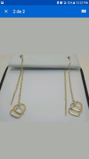 14K YELLOW GOLD THREADER EARRINGS for Sale in Pittsburgh, PA