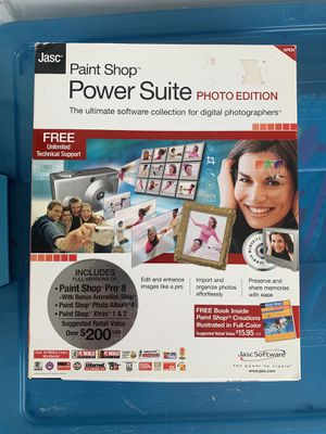Vintage Software - Jasc Paint Shop Power Suite Photo Edition for Sale in Syracuse, NY
