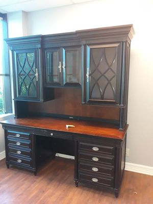 High end solid office furniture 2 pc keys are included for Sale in Allen, TX