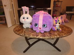 Selling everything for 15 shopkins, Rabbyt, and little unicornio for Sale in Richardson, TX