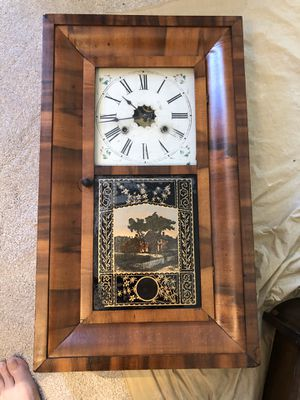 Antique Wall Clock made 1840 USA Beautiful Wood! for Sale in Jacksonville, FL
