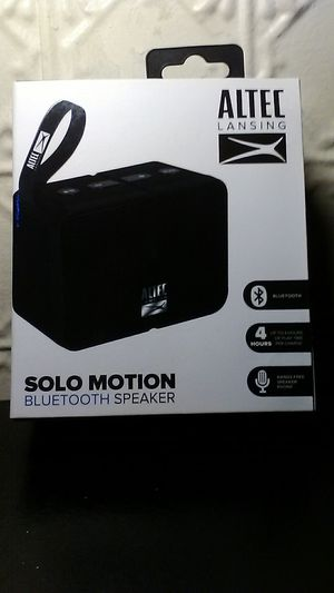 Altec Lansing Solo Motion Bluetooth Speaker for Sale in West Allis, WI