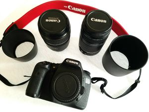 Canon DSLR EOS 7D camera kit: body, 2 lenses and more for Sale in Guadalupe, AZ