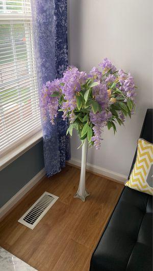Floor vase with flowers for $50 for Sale in Herndon, VA