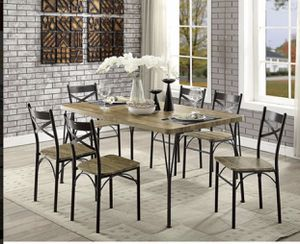 7 pcs Dining Table set for Sale in Montebello, CA