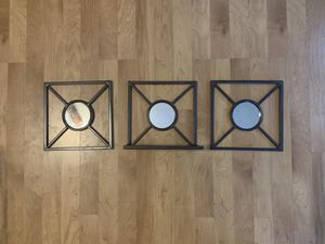 Decorative Wall Mirrors (3 piece set) for Sale in Peoria, AZ