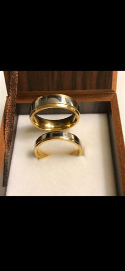 Unisex- 18K Gold plated Matching Ring set- for Sale in Boston,  MA