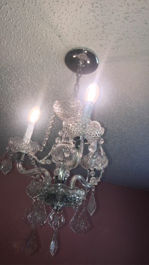Chandelier wired with lights for Sale in San Antonio, TX