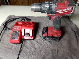 Milwaukee fuel m18 drill with hammer drill and driver for Sale in Parma, OH