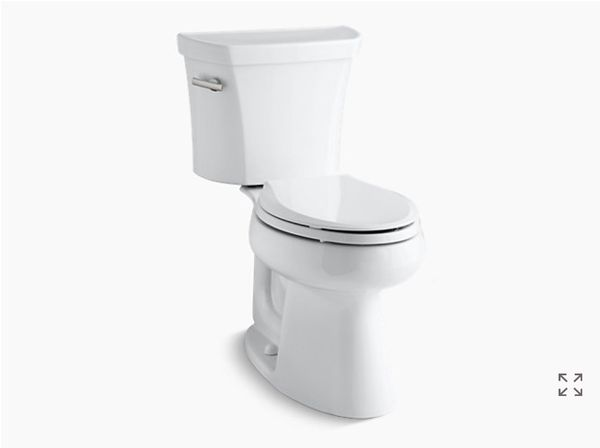 NEW Kohler Highline 1.0 gfp Toilet, Cachet, and Toilet Seat