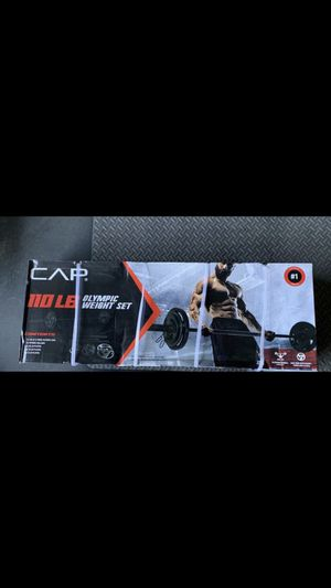 CAP 110 lb Olympic weight set for Sale in Vacaville, CA