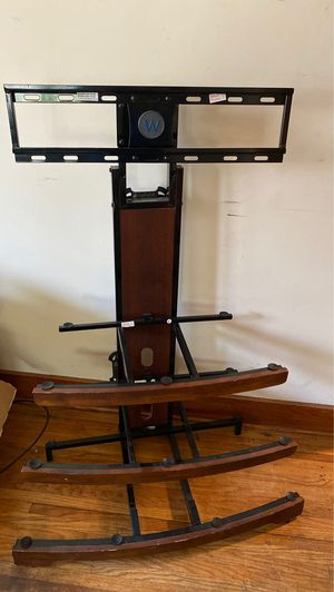 Tv stand with glass shelves for Sale in Medora, KS