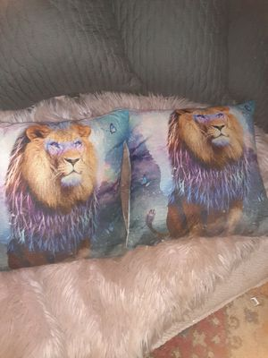 Lion of Judah Pillows $18.00 cash only (serious buyers) for Sale in Dallas, TX