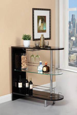 3 Shelf Glossy Black Bar Unit $199- SALE! Best Deal! for Sale in Sacramento, CA