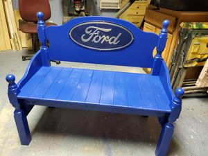 Bench Ford logo made from twin bed frame for Sale in RAISINVL Township, MI