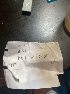 TRAVIS SCOTT BURGER RECEIPT for Sale in Stafford, TX