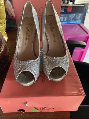 Silver rhinestone heels for Sale in La Puente, CA
