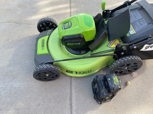 Greenworks Pro Brushless Electric Lawn Mower. Used one time for Sale in Littleton, CO