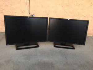 Dual HP ZR24w 24-inch S-IPS 1900x1200 LCD Monitors - Tilt Swivel Pivot for Sale in San Jose, CA