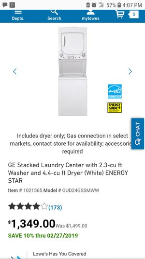 GE washer dryer combo for Sale in Inglewood, CA