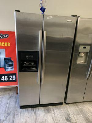 Whirlpool stainless steel side by side fridge for Sale in Phoenix, AZ