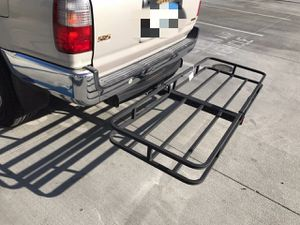 New in box XL large 62x23x5 inches 2 inch receiver mount hitch mount travel luggage basket rack 500 lbs capacity with pin canasta de enganche for Sale in Whittier, CA