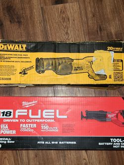 Sawzall Milwaukee Or Dewalt New Only Tool for Sale in Smyrna,  TN