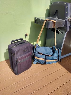 Black carry-on or canvas duffle bag $20 each for Sale in Clearwater, FL