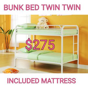 BUNK BED TWIN TWIN WITH MATTRESSES for Sale in Inglewood, CA