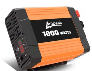 1000W Power Inverter DC 12V to AC 110V with Dual AC Outlets and 2.1A USB Port for Car RV Truck Boat for Sale in Piscataway, NJ