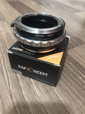 Lens Mount Adapter, K&F Concept Nikon G Mount F/AI/G Lens to Sony E-Mount/NEX Camera Body Mount Adapter $30 OBO for Sale in Monterey Park, CA