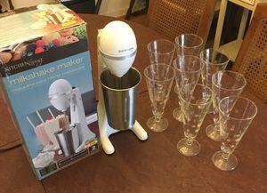 Milkshake Maker with Vintage Glasses for Sale in Herndon, VA