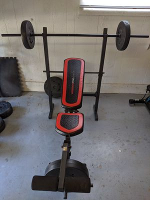 Weider Pro bench with 95lbs weight set for Sale in Kenneth City, FL
