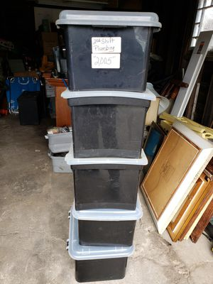 Lot of 5 office storage bins for Sale in Providence, RI