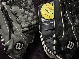 Left-Handed Throw Wilson A500 Siren Softball Gloves for Sale in Hacienda Heights,  CA