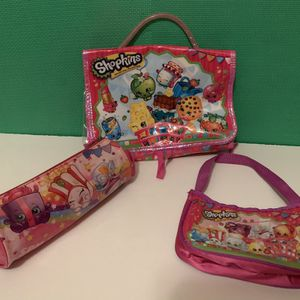 Shopkins Storage Bag Pencil Case And Hand Bag for Sale in Chicago, IL