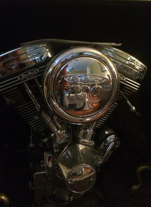 Harley Davidson fit. Custom chrome, Brand Nu, 100 inch rev Tech motorcycle engine complete with manufacturers statement of origin. Never run. for Sale in Lake Park, FL