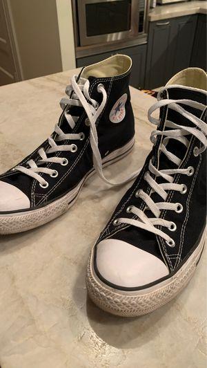 Men's black Converse hightops size 10 for Sale in San Francisco, CA