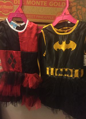 🎃 Girls Harley Quinn or Batgirl Costume size small for Sale in Hesperia, CA