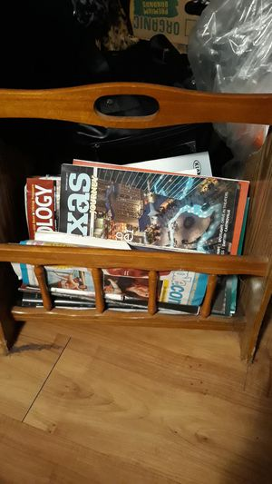 Magazine Rack of wood for Sale in Austin, TX